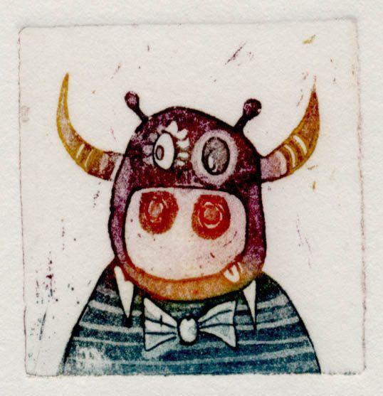 Gospod bik, 4x4cm, 2006 (cena 12,50 EUR)