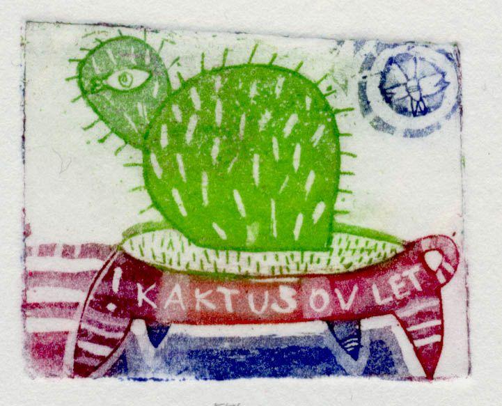 Kaktusov let, 5x4cm, 2003 (cena 14,50 EUR)