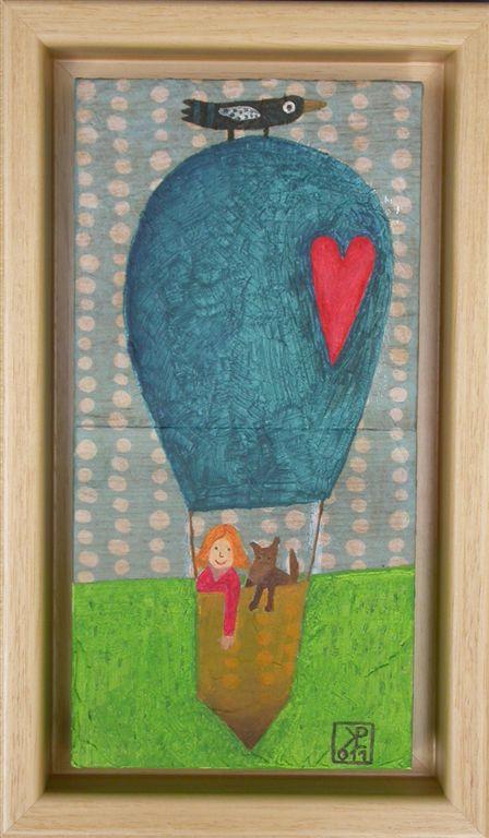 Mačja hiša, 2011, akril na lesu, 14,5 x 24,5 cm, 120 eur