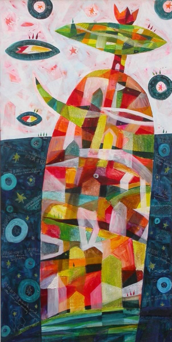 Med nebom in zemljo 60x120, akril, 2005 (cena 800 EUR)