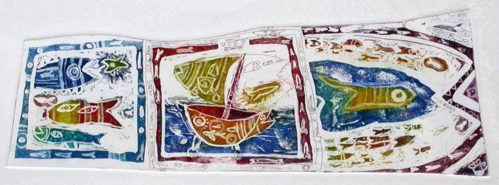 Morje se odpira, 12x36cm, 2002 (cena 105 EUR)
