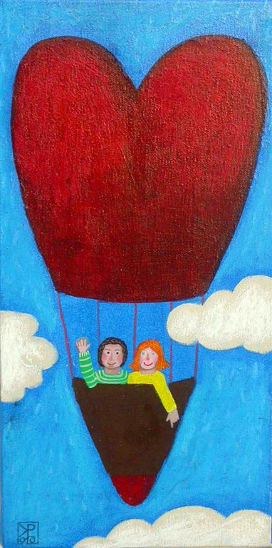 Najin balon, 40 x 20 cm, akril, 2010, (cena 200 eur)