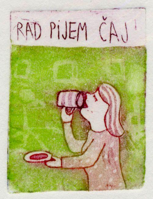 Pijem caj, 4x5cm, 2005 (cena 14,50 EUR)