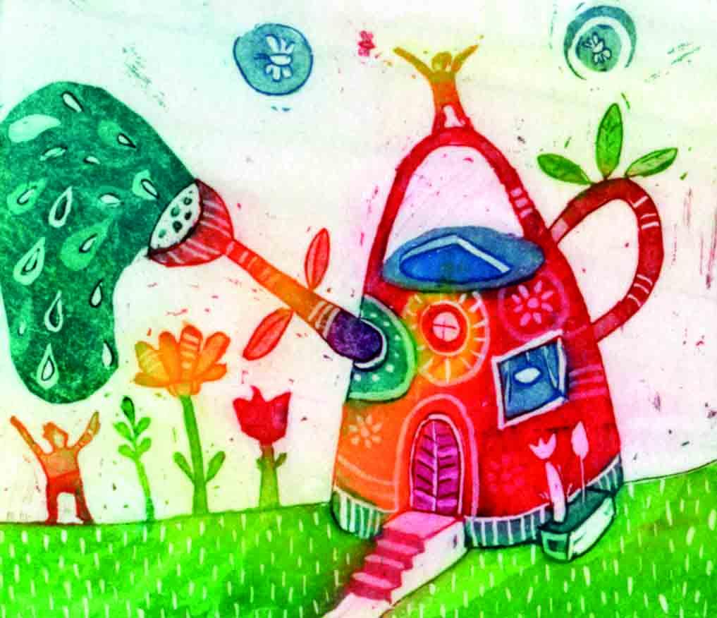 Pomlad prihaja 7.5x9 cm, 2010 (cena 25 eur)
