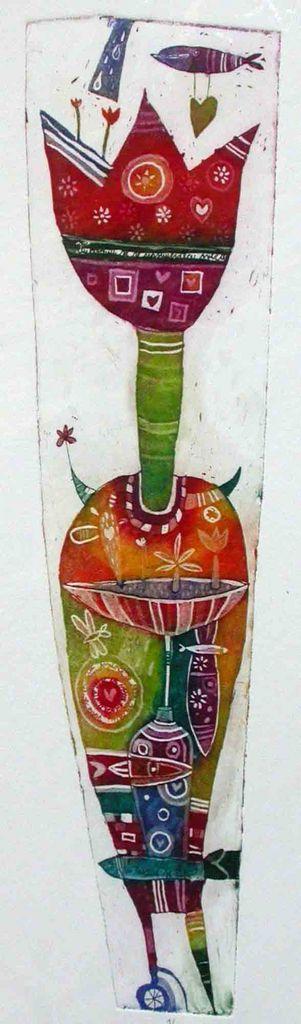 Vaza in tulipan, 8x30, 2007. (cena 80 EUR)