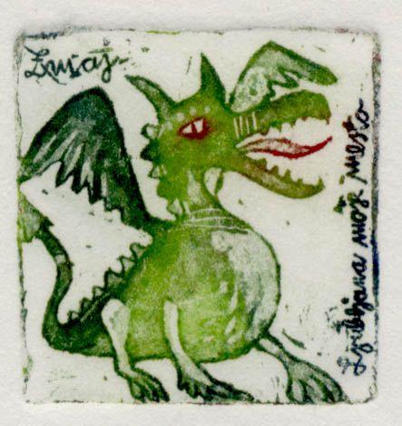 Zmaj, 4x4cm, 2006 (cena 14,50 EUR)