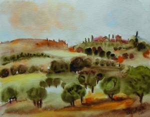 Krajina, akvarel