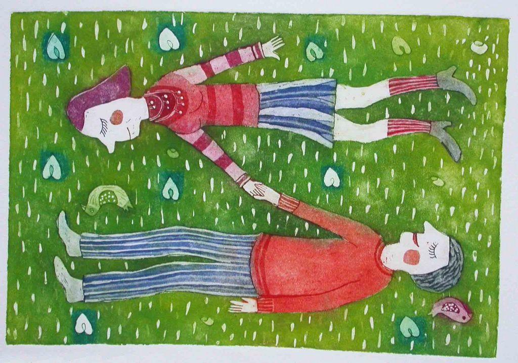 Drug z drugim, 18x26, 2007 (cena 100 EUR)