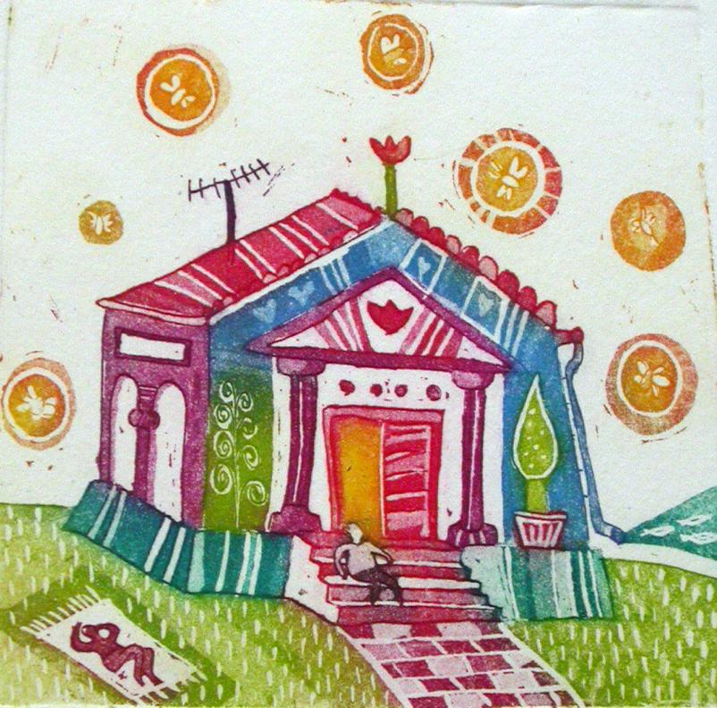 Hiša umetnosti, 9x9 cm, (cena 25eur)