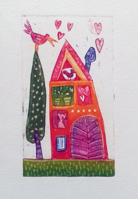Pomladna hiška, 11 x 6 cm, 2014, cena 35 eur
