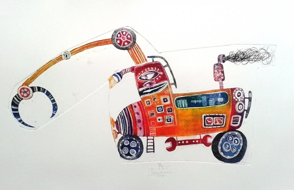 Kopač, 21 x 40 cm, 2003, cena 83 eur