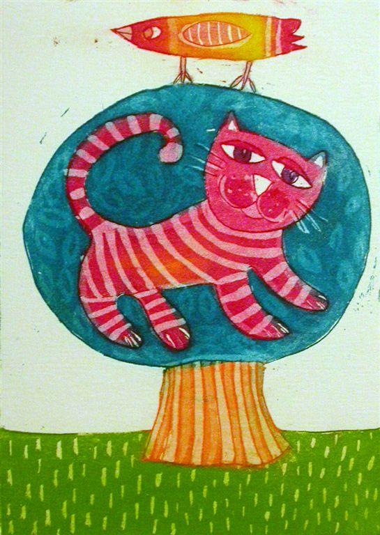 Mačje drevo, 13x8,5 cm, (cena 35 eur)