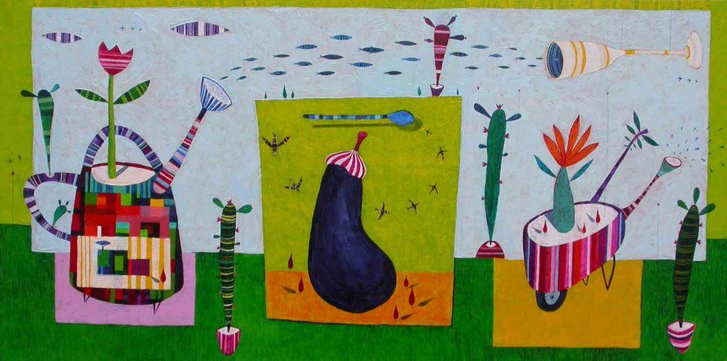 Malancana, 40x80 cm, akril, 2008 (cena 480 EUR)