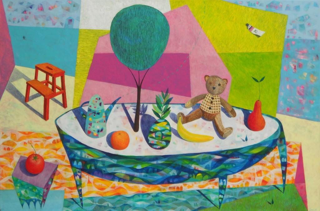 Ob mizi, 110 x 170 cm, akril, 2013, cena 4000 eur