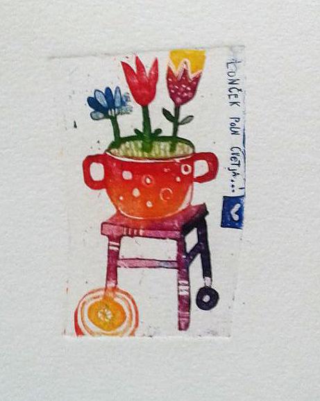 Polono cvetja, 6 x 4 cm, 2014 cena 15 eur