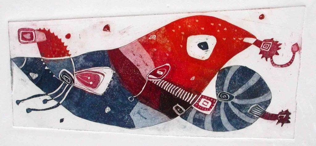 Ptica, 14x30cm, 2003 (cena 105 EUR)