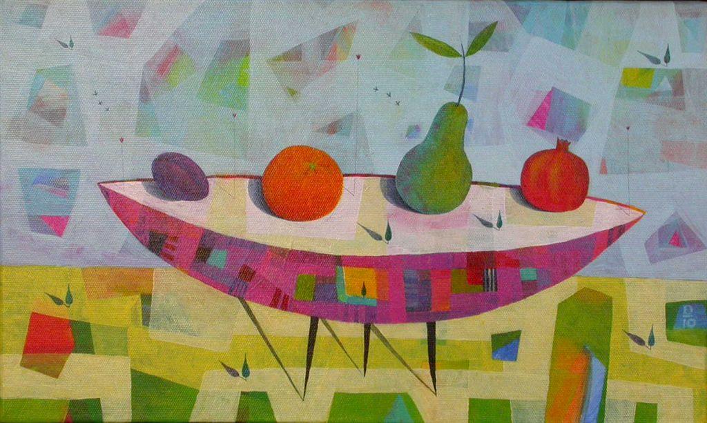 Sadni vrt, 40 x 50 cm, akril, 2010, prodana