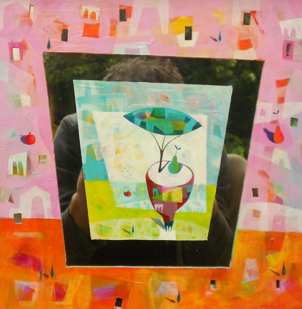 ogledalo, 30x30 cm, 2012